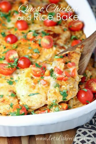 Taco Chicken and Rice Bake