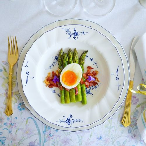 Green Asparagus, Bacon & Egg