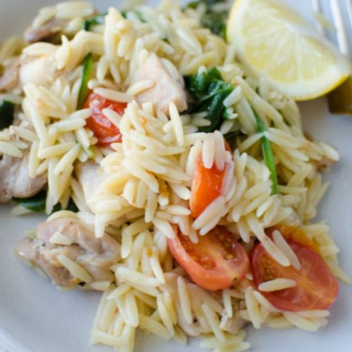 One Pot Lemon Chicken and Orzo