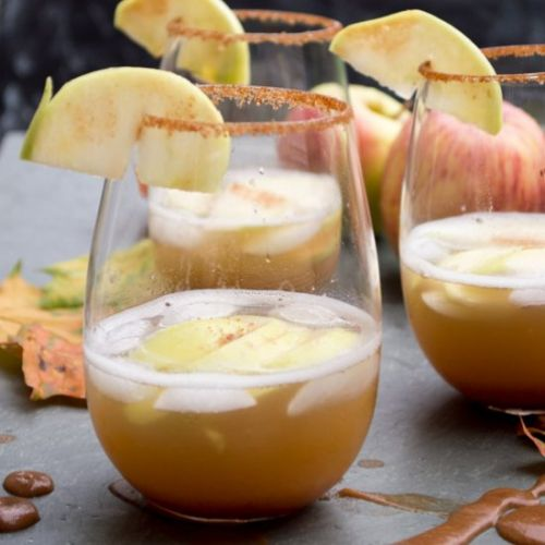 Spiked Apple Orchard Cocktail