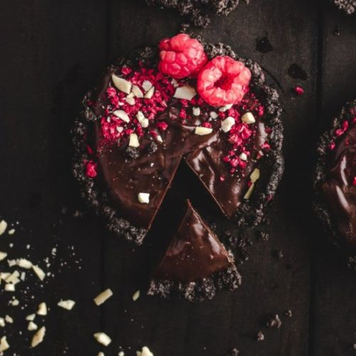 Dark Chocolate Raspberry Tarts