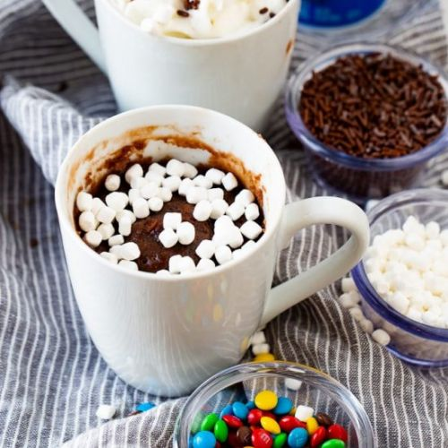 HOT COCOA MUG BROWNIE FOR ONE