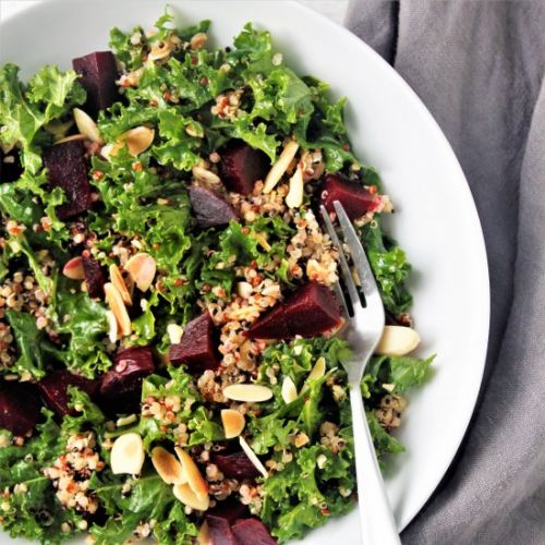Roasted Beet, Kale, & Quinoa Salad