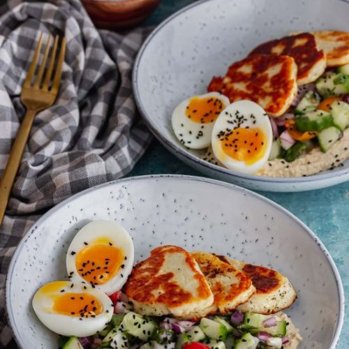 Halloumi Breakfast Bowl with Salad