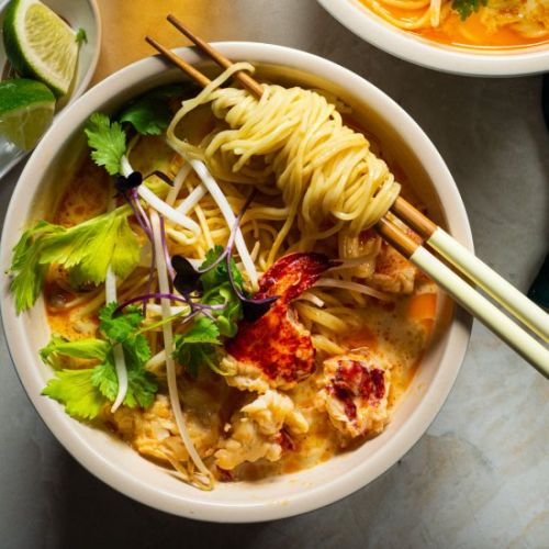 Lobster Curry Noodle Soup