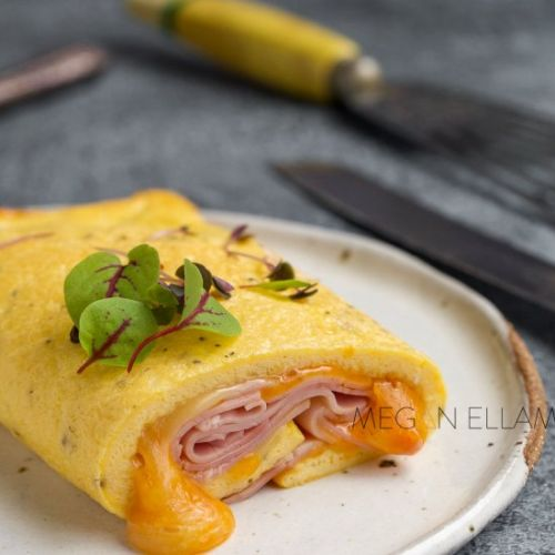 Keto Omelette Rolled and Baked