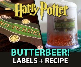 Butterbeer Labels + Recipe