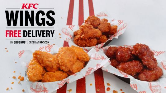 KFC Delivers A Touchdown With The Introduction Of New Finger Lickin' Good Kentucky Fried Wings - Cooked To Order And Delivered For Free