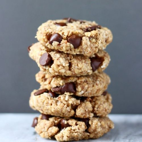 GF Vegan Oatmeal Chocolate Cookies