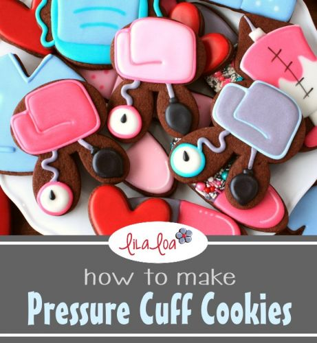 How To Make Decorated Blood Pressure Cuff Sugar Cookies