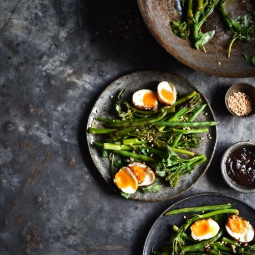 Eggs with limey greens