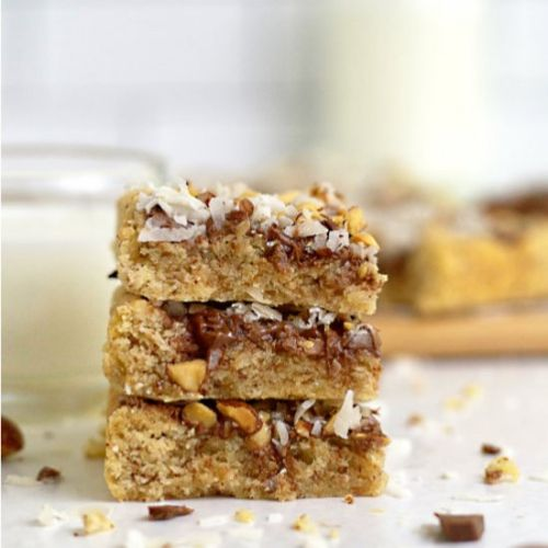 Almond cookie bars {with coconut}