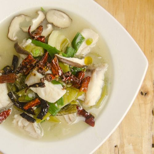 Sichuan Fish With Mustard Greens