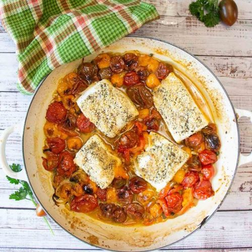 One Pan Baked Halibut