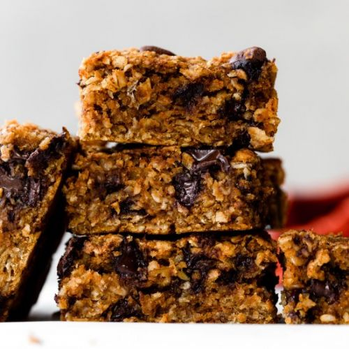 Pumpkin Chocolate Chip Oatmeal Bars