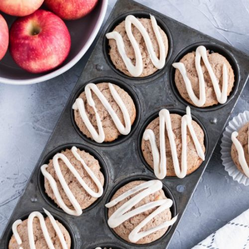 Apple Muffins w/ Cream Cheese Glaze
