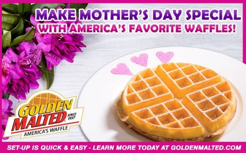 Make Mother's Day Special with Golden Malted Waffles