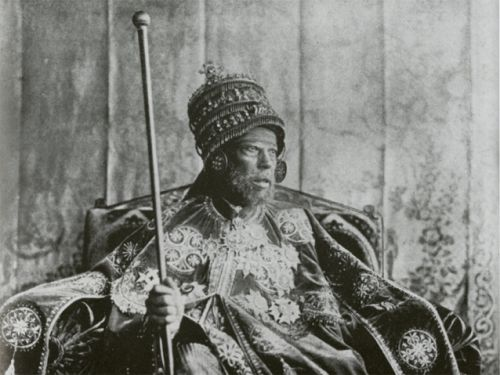 Is Barbera feminine or masculine ? And why is there a photo of the great Ethiopian Emperor Menelik II on my blog today?